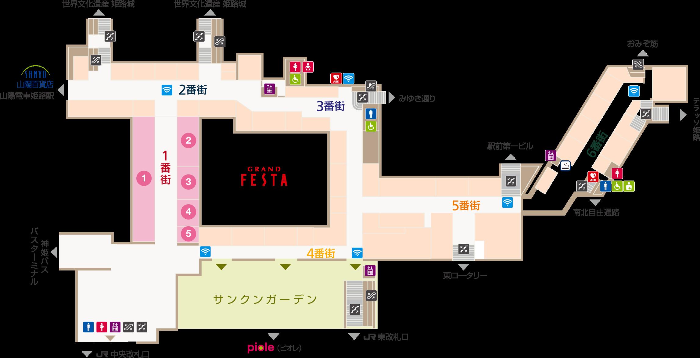 フェスタビル マップ1F